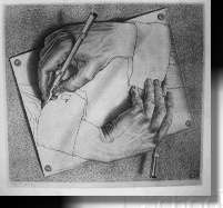 Drawing Hands and all M.C. Escher works copyright 2000 Cordon Art BV Baarn The Netherlands.